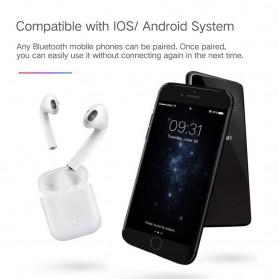 NAIKU TWS Airpods Earphone Bluetooth with Charging Case - i9S - White - 2
