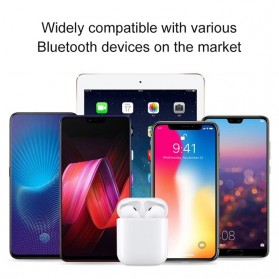 NAIKU TWS Airpods Earphone Bluetooth with Charging Case - i9S - White - 4