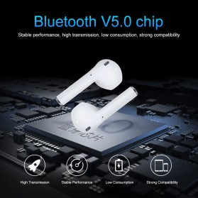 NAIKU TWS Airpods Earphone Bluetooth with Charging Case - i9S - White - 5