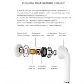 NAIKU TWS Airpods Earphone Bluetooth with Charging Case - i9S - White - 7