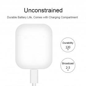 WOJOQ TWS Earphone Bluetooth Headset 5.0 with Charging Case - i12 - White - 2