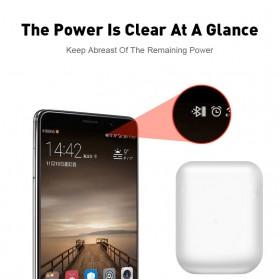 WOJOQ TWS Earphone Bluetooth Headset 5.0 with Charging Case - i12 - White - 4