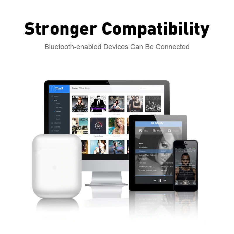 wojoq tws earphone bluetooth headset 5 0 with charging case i12 white jakartanotebook com