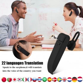PEIKO Penerjemah Bahasa Bluetooth Headset Handsfree Language Translator - PKBT-10 - Black - 2