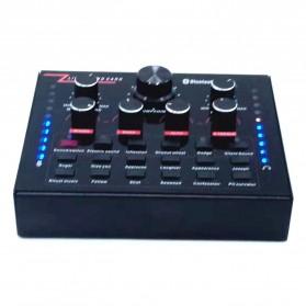 ZLIVE Audio USB External Soundcard Live Broadcast Microphone Headset - V12 - Black - 2