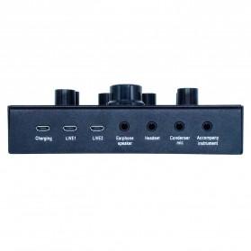 ZLIVE Audio USB External Soundcard Live Broadcast Microphone Headset - V12 - Black - 4