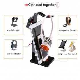MOONBIFFY Universal Gaming Headphone Hanger - C098 - Black - 2