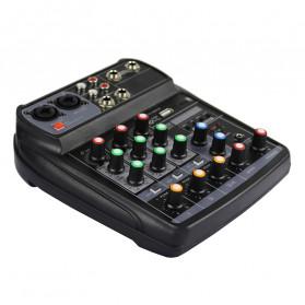 TEYUN Professional Mixing Console Monitor Effect Processor 4 Channel - TU04 - Black - 4