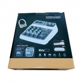 TEYUN Professional Mixing Console Monitor Effect Processor 4 Channel - TU04 - Black - 11
