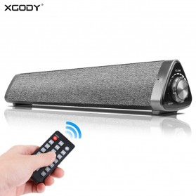 XGODY Soundbar Bluetooth Speaker Home Theater Deep Bass 10W with Remote - LP1811 - Gray