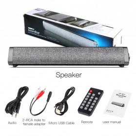 XGODY Soundbar Bluetooth Speaker Home Theater Deep Bass 10W with Remote - LP1811 - Gray - 10