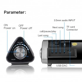XGODY Soundbar Bluetooth Speaker Home Theater Deep Bass 10W with Remote - LP1811 - Gray - 8