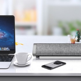 XGODY Soundbar Bluetooth Speaker Home Theater Deep Bass 10W with Remote - LP1811 - Gray - 9
