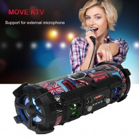 YINEW Outdoor Portable Bluetooth Speaker Subwoofer with Mic - CH-M17 - Black - 4