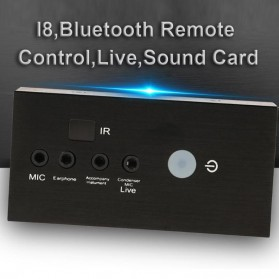 ALLOYSEED Audio USB External Soundcard Live Broadcast with Bluetooth Remote Control - i8 - Black - 3
