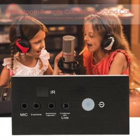 ALLOYSEED Audio USB External Soundcard Live Broadcast with Bluetooth Remote Control - i8 - Black - 7