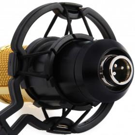 Taffware BM-800 Paket Smule Condenser Microphone + Scissor Arm Stand NB-35 + Smartphone Holder + Pop Filter - Black - 11