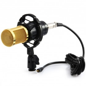 Taffware BM-800 Paket Smule Condenser Microphone + Scissor Arm Stand NB-35 + Smartphone Holder + Pop Filter - Black - 3