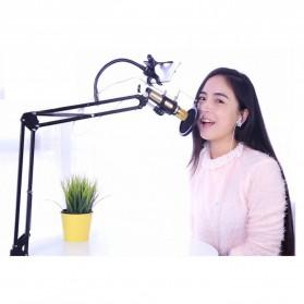 Taffware BM-800 Paket Smule Condenser Microphone + Scissor Arm Stand NB-35 + Smartphone Holder + Pop Filter - Black - 6