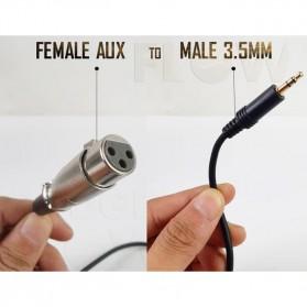 Kabel 3.5mm to XLR Karaoke Microphone 2 Meter for BM-800 BM-8000 BM-900 BM-700 - AV129 - Black - 4