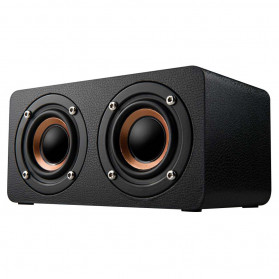 ANSUOFU Desktop Bluetooth Speaker Stereo Subwoofer TV Version with Mic - W5 - Black