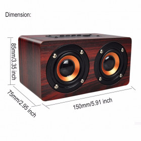 ANSUOFU Desktop Bluetooth Speaker Stereo Subwoofer TV Version with Mic - W5 - Black - 3