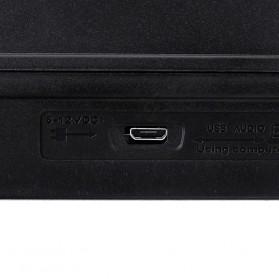 LEORY USB Mini Portable Live Audio Mixer Karaoke DJ 4 Channel - B55423 - Black - 5