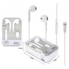 VITOG Earphone Earpods Lightning with Mic - i7 - White