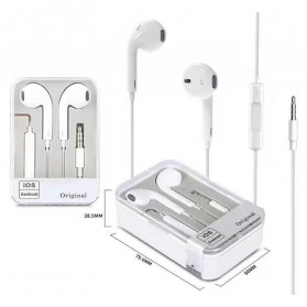 VITOG Earphone Earpods 3.5mm with Mic - i7 - White