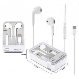 VITOG Earphone Earpods USB Type C with Mic - i7 - White