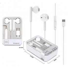 VITOG Earphone Earpods USB Type C Huawei P20 with Mic - i7 - White