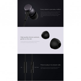 Xiaomi Mi Basic Earphone Ultra Deep Bass with Mic (Replika 1:1) - Black - 3