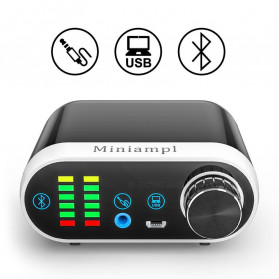 Douk Audio Mini Amplifier HiFi Bluetooth 5.0 Sound Card - TPA3116 - Black - 8