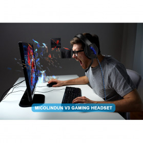 ONIKUMA Gaming Headphone Headset Super Bass LED with Microphone - J1 - Black - 2