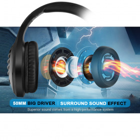 ONIKUMA Gaming Headphone Headset Super Bass LED with Microphone - J1 - Black - 4