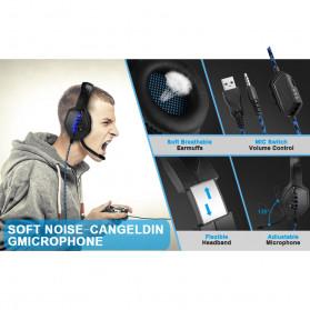ONIKUMA Gaming Headphone Headset Super Bass LED with Microphone - J1 - Black - 5