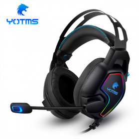 KOTION YOTMS Gaming Headphone Headset Super Bass LED with Mic - Y2 - Black