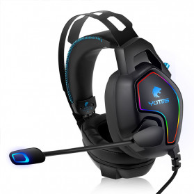 KOTION YOTMS Gaming Headphone Headset Super Bass LED with Mic - Y2 - Black - 4