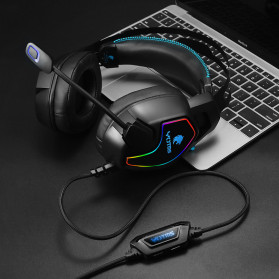 KOTION YOTMS Gaming Headphone Headset Super Bass LED with Mic - Y2 - Black - 6