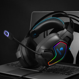 KOTION YOTMS Gaming Headphone Headset Super Bass LED with Mic - Y2 - Black - 7