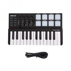 WORLDE Piano Digital 25 Key + DRUM Pad Midi Controller Professional Musical Instrument - PD879 - Black - 2