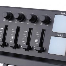 WORLDE Piano Digital 25 Key + DRUM Pad Midi Controller Professional Musical Instrument - PD879 - Black - 4