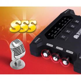 ALLOYSEED Audio USB External Soundcard Live Broadcast Microphone Headset - K108X - Black - 2