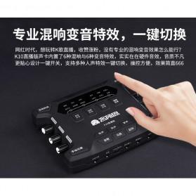 ALLOYSEED Audio USB External Soundcard Live Broadcast Microphone Headset - K108X - Black - 5