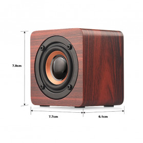 Docooler Wooden Bluetooth Speaker Stereo Subwoofer - Q1 - Brown - 2