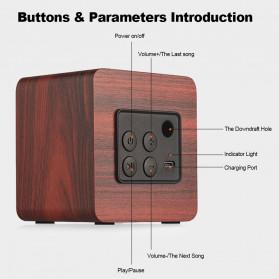 Docooler Wooden Bluetooth Speaker Stereo Subwoofer - Q1 - Brown - 4