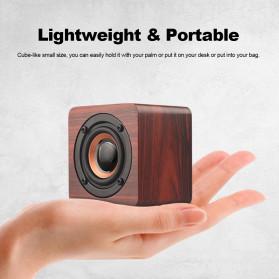 Docooler Wooden Bluetooth Speaker Stereo Subwoofer - Q1 - Brown - 5