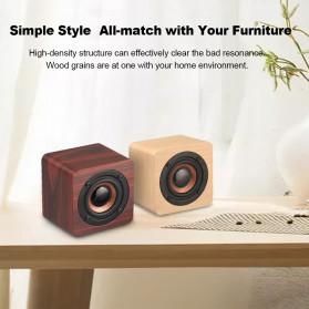 Docooler Wooden Bluetooth Speaker Stereo Subwoofer - Q1 - Brown - 6