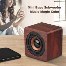 Docooler Wooden Bluetooth Speaker Stereo Subwoofer - Q1 - Brown - 7