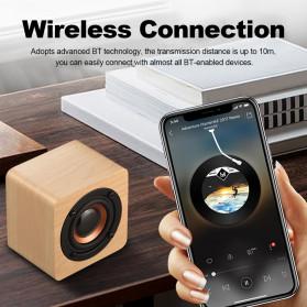 Docooler Wooden Bluetooth Speaker Stereo Subwoofer - Q1 - Brown - 9
